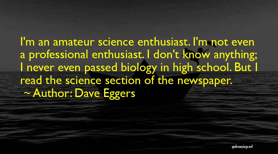 School Section Quotes By Dave Eggers