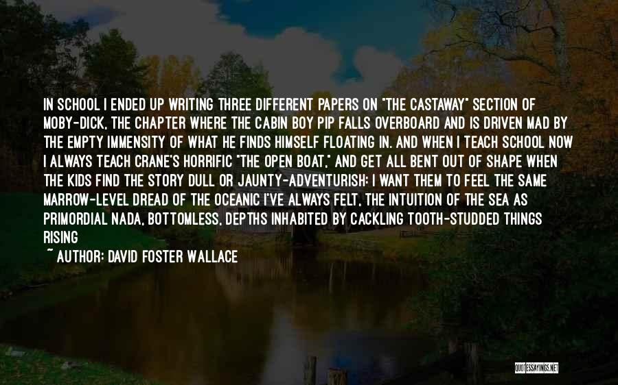 School Section Quotes By David Foster Wallace