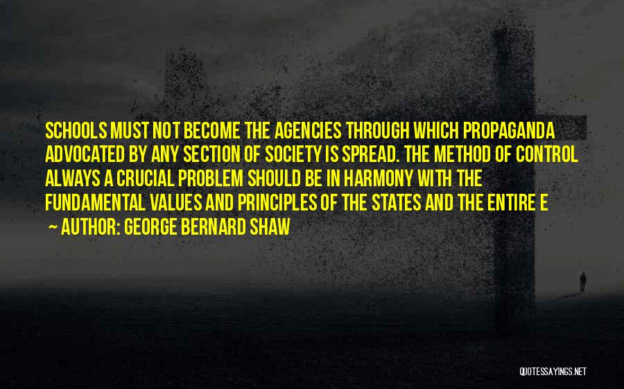School Section Quotes By George Bernard Shaw