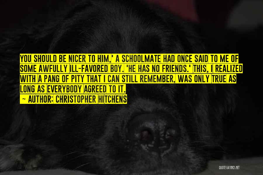 Schoolmates Quotes By Christopher Hitchens