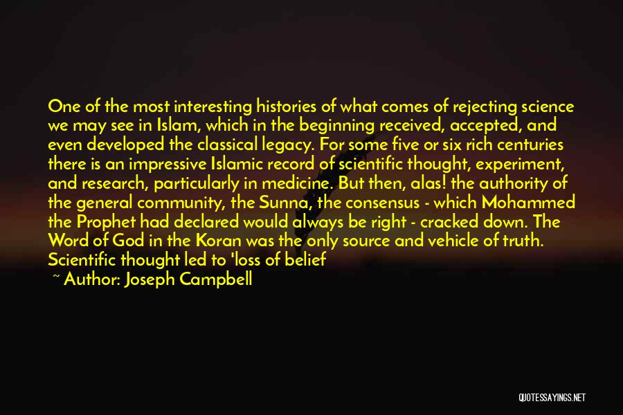 Science Consensus Quotes By Joseph Campbell