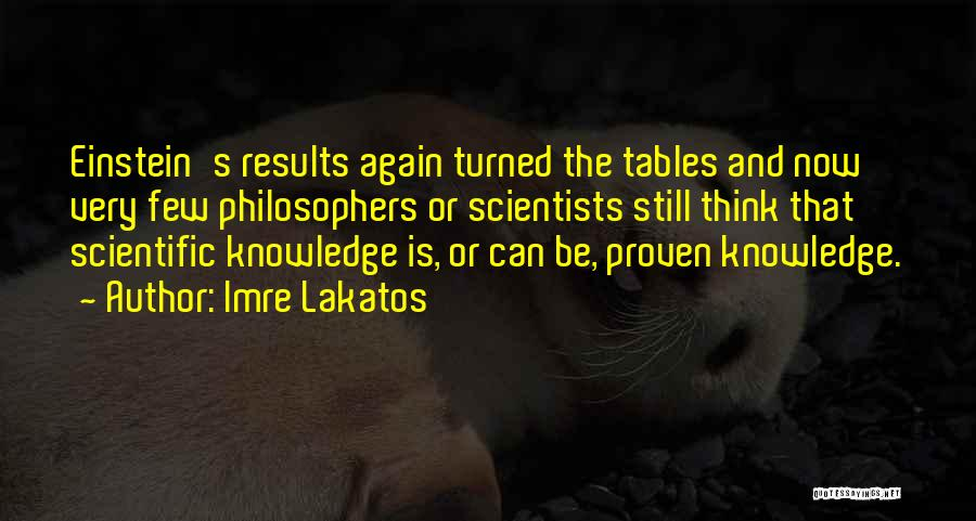 Scientific Knowledge Quotes By Imre Lakatos