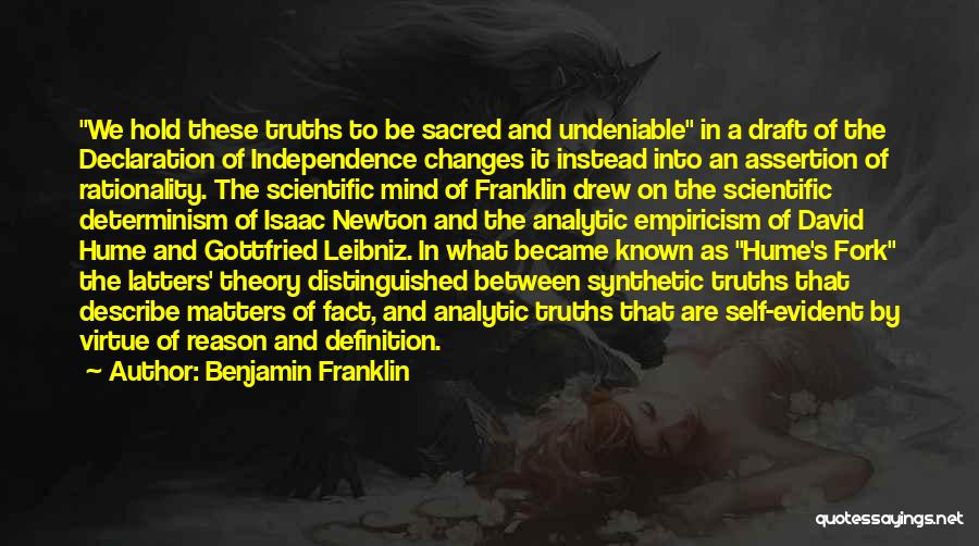 Scientific Theory Quotes By Benjamin Franklin