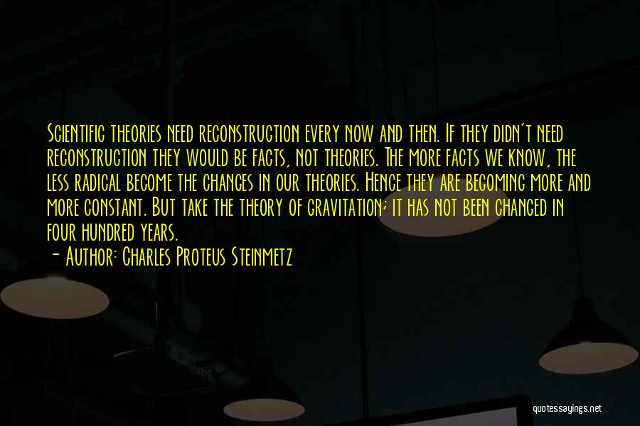 Scientific Theory Quotes By Charles Proteus Steinmetz