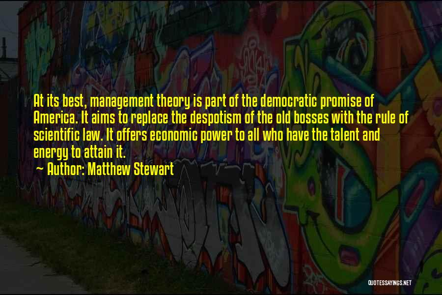 Scientific Theory Quotes By Matthew Stewart