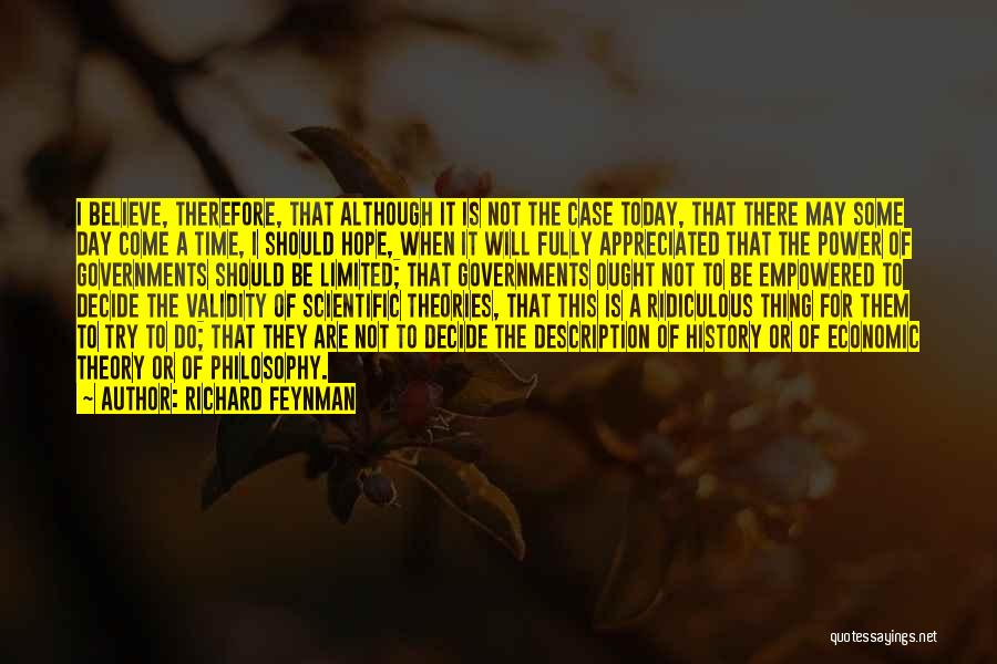 Scientific Theory Quotes By Richard Feynman