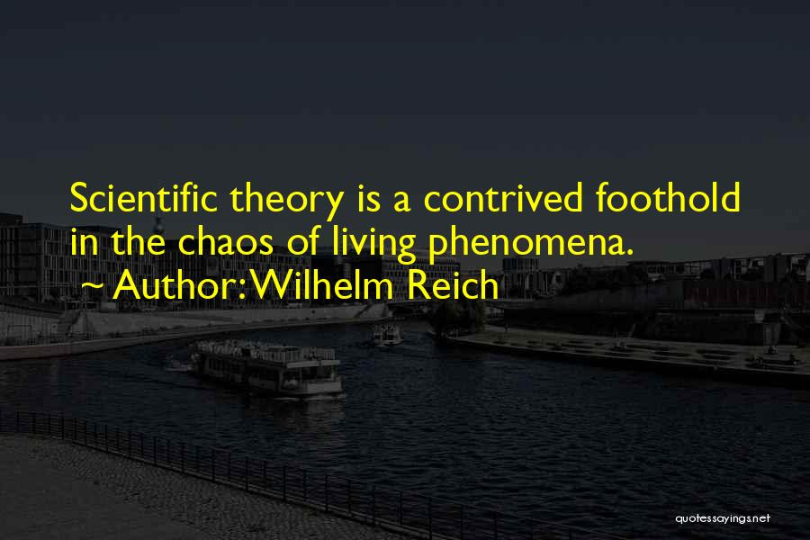 Scientific Theory Quotes By Wilhelm Reich