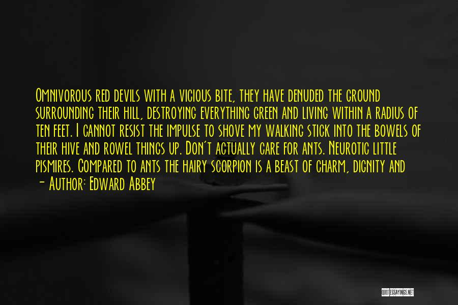 Scorpion Quotes By Edward Abbey