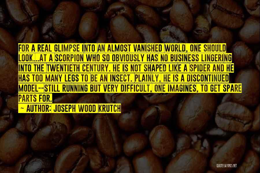 Scorpion Quotes By Joseph Wood Krutch