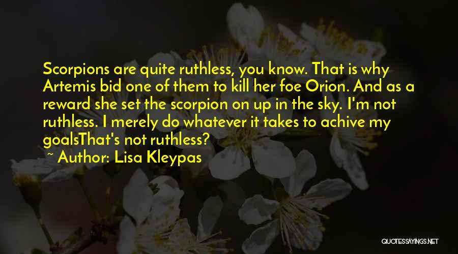 Scorpion Quotes By Lisa Kleypas