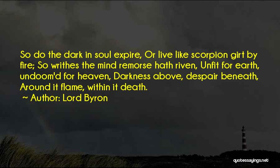 Scorpion Quotes By Lord Byron