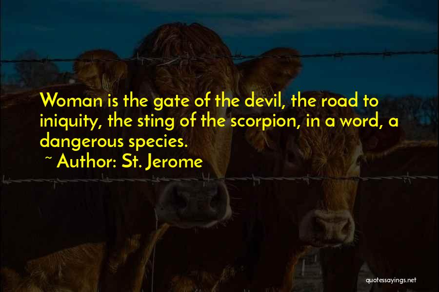 Scorpion Quotes By St. Jerome