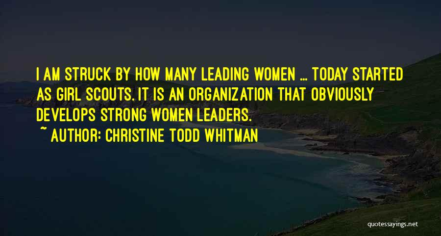 Scouts-many-marshes Quotes By Christine Todd Whitman