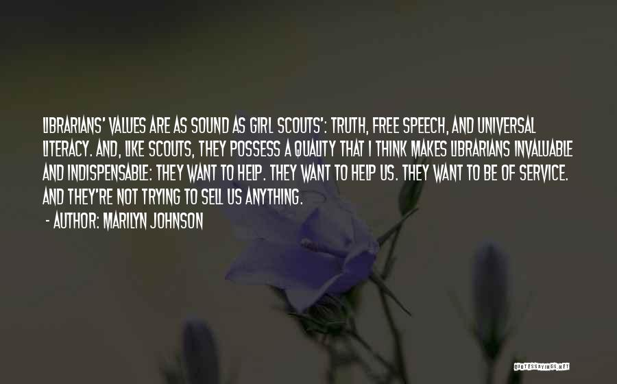 Scouts-many-marshes Quotes By Marilyn Johnson