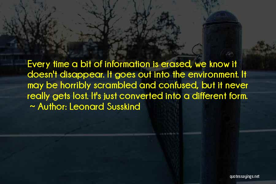 Scrambled Quotes By Leonard Susskind