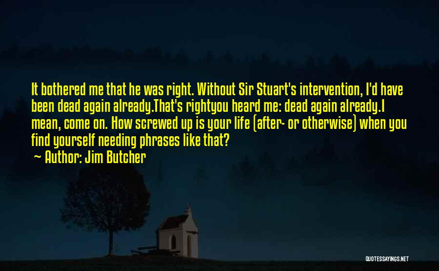 Screwed Again Quotes By Jim Butcher