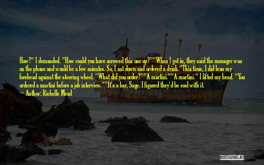 Screwed Up Head Quotes By Richelle Mead