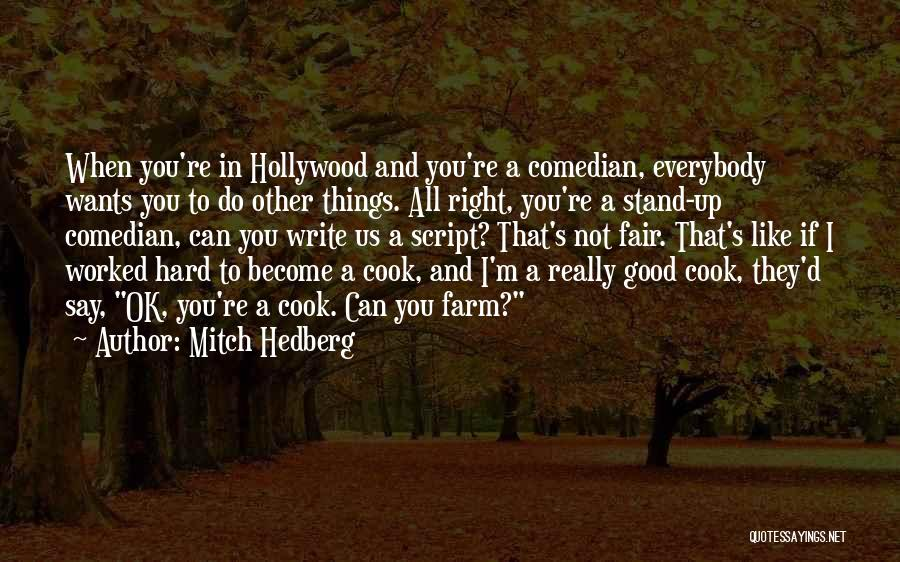 Script Writing Quotes By Mitch Hedberg