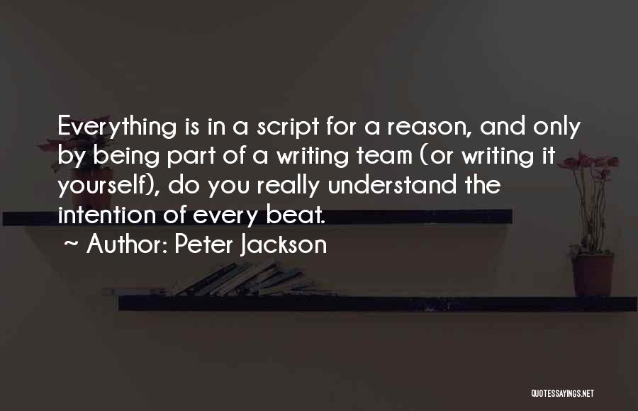 Script Writing Quotes By Peter Jackson