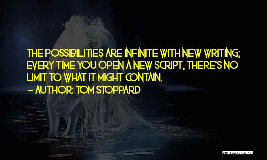 Script Writing Quotes By Tom Stoppard