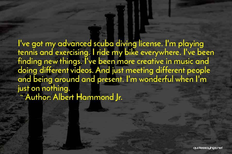 Scuba Diving Quotes By Albert Hammond Jr.