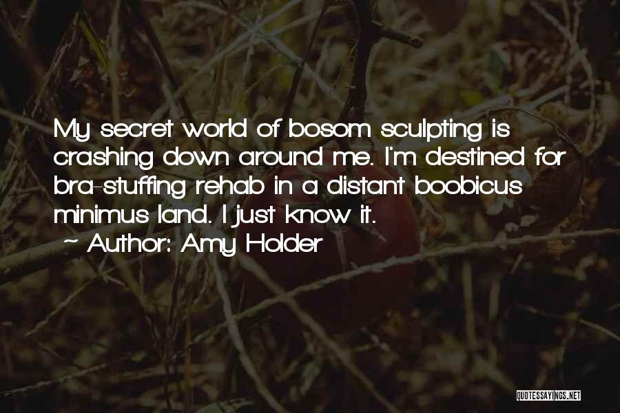 Sculpting Quotes By Amy Holder
