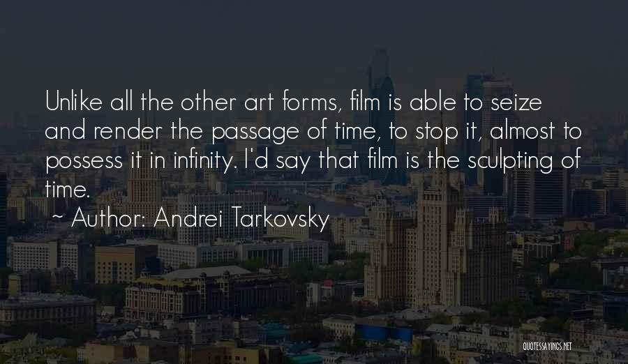 Sculpting Quotes By Andrei Tarkovsky