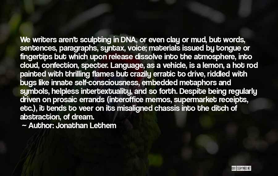 Sculpting Quotes By Jonathan Lethem