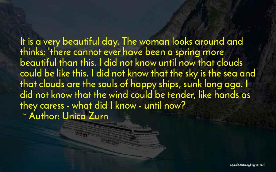 Sea And Clouds Quotes By Unica Zurn
