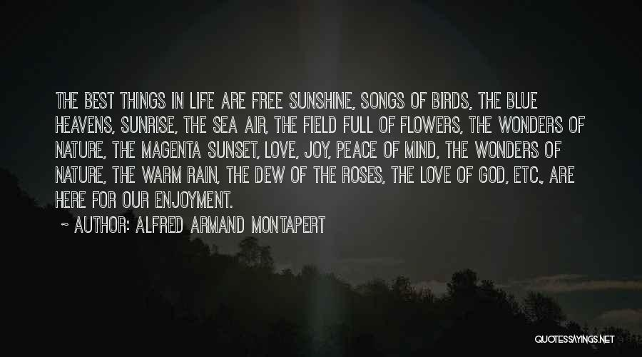 Sea Sunset Quotes By Alfred Armand Montapert