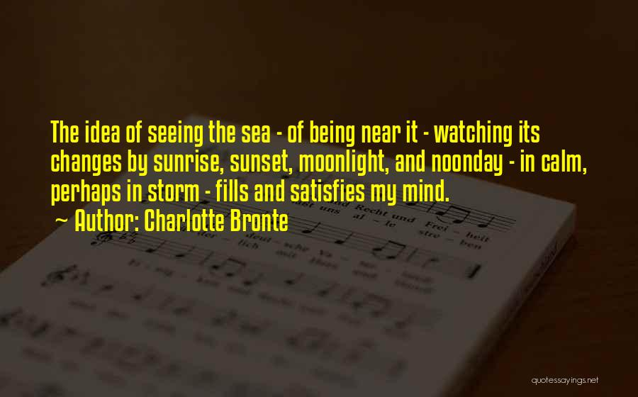 Sea Sunset Quotes By Charlotte Bronte