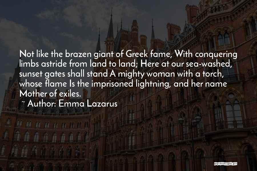 Sea Sunset Quotes By Emma Lazarus