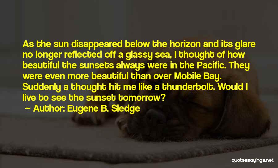 Sea Sunset Quotes By Eugene B. Sledge
