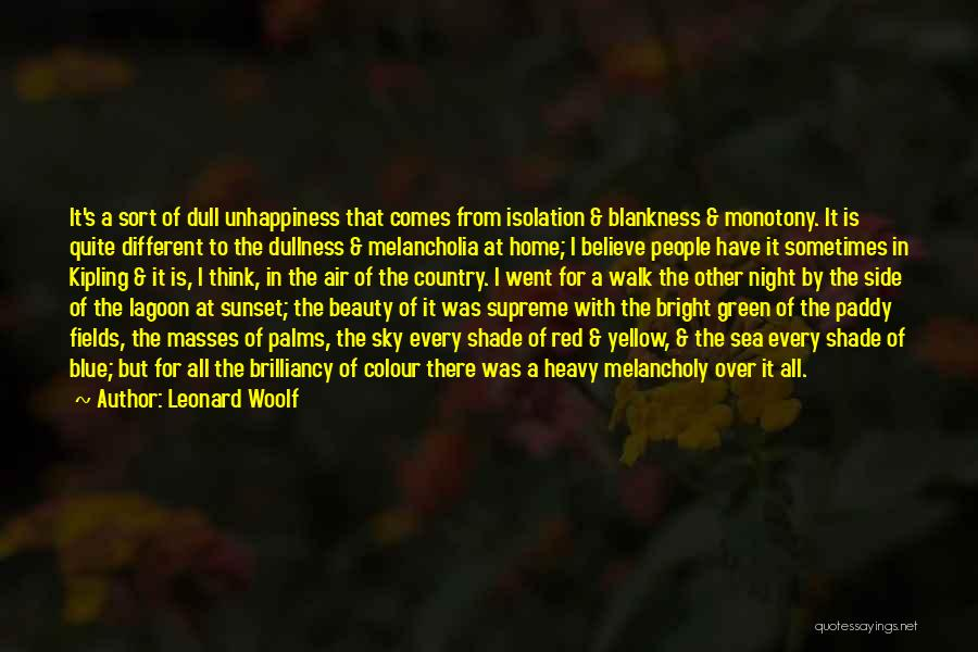 Sea Sunset Quotes By Leonard Woolf