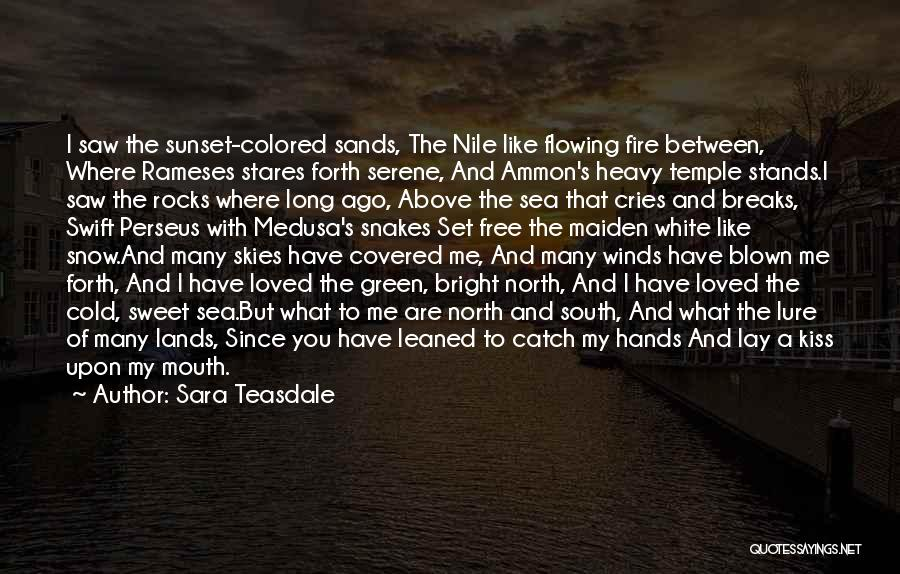 Sea Sunset Quotes By Sara Teasdale
