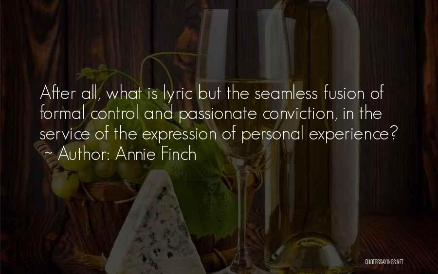 Seamless Quotes By Annie Finch