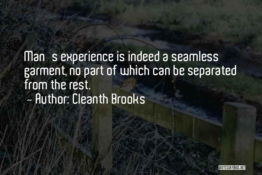 Seamless Quotes By Cleanth Brooks