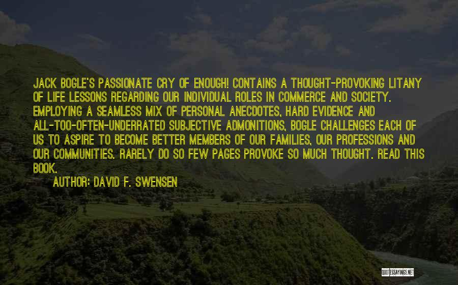 Seamless Quotes By David F. Swensen