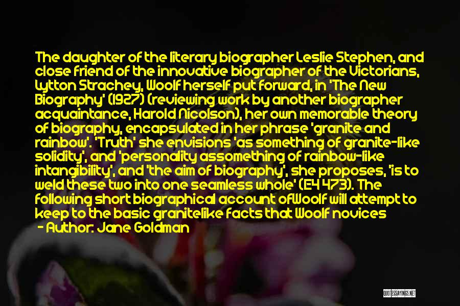 Seamless Quotes By Jane Goldman
