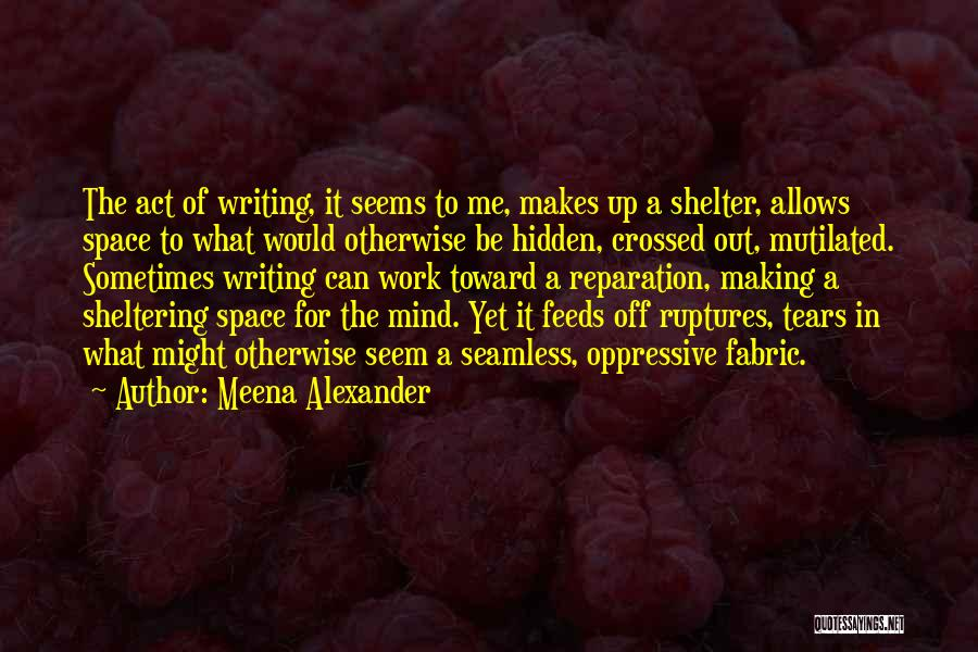 Seamless Quotes By Meena Alexander