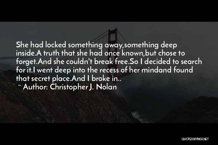 Search Free Quotes By Christopher J. Nolan