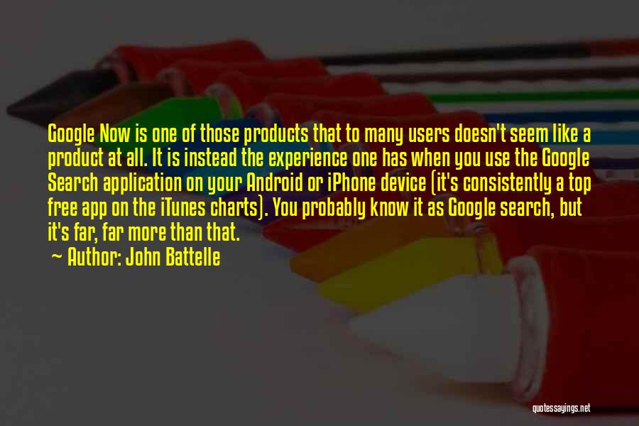Search Free Quotes By John Battelle