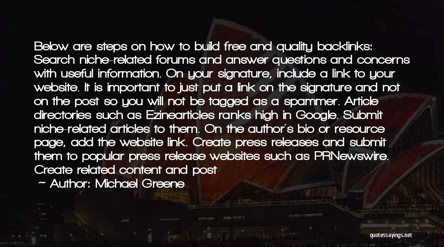 Search Free Quotes By Michael Greene