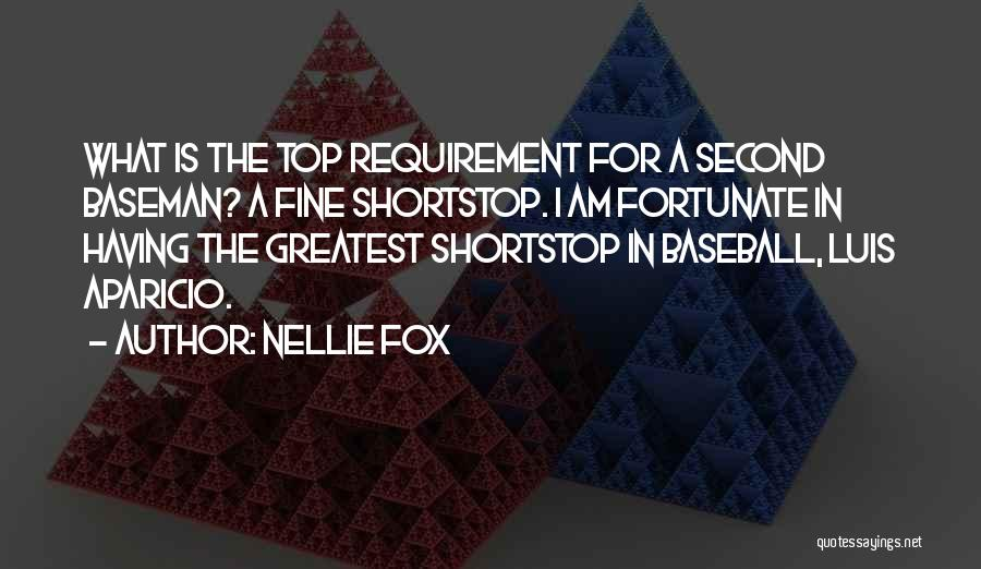 Second Baseman Quotes By Nellie Fox