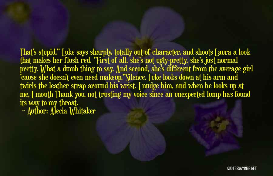 Second Best Girl Quotes By Alecia Whitaker