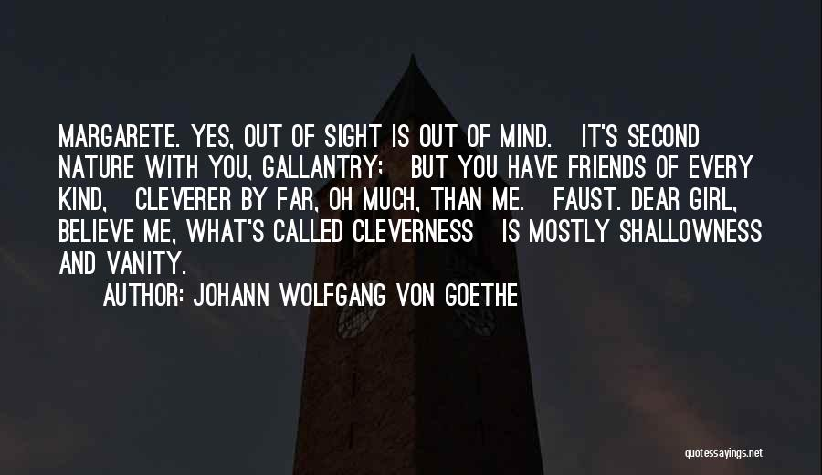 Second Best Girl Quotes By Johann Wolfgang Von Goethe