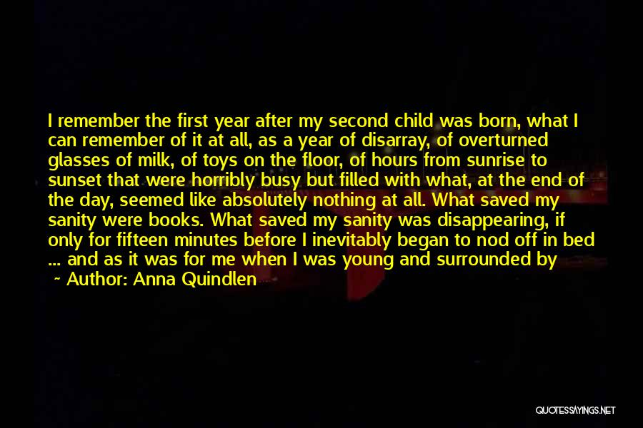 Second Child Born Quotes By Anna Quindlen