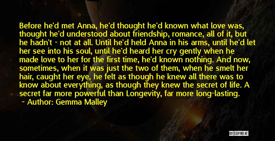 Secret Of Long Life Quotes By Gemma Malley