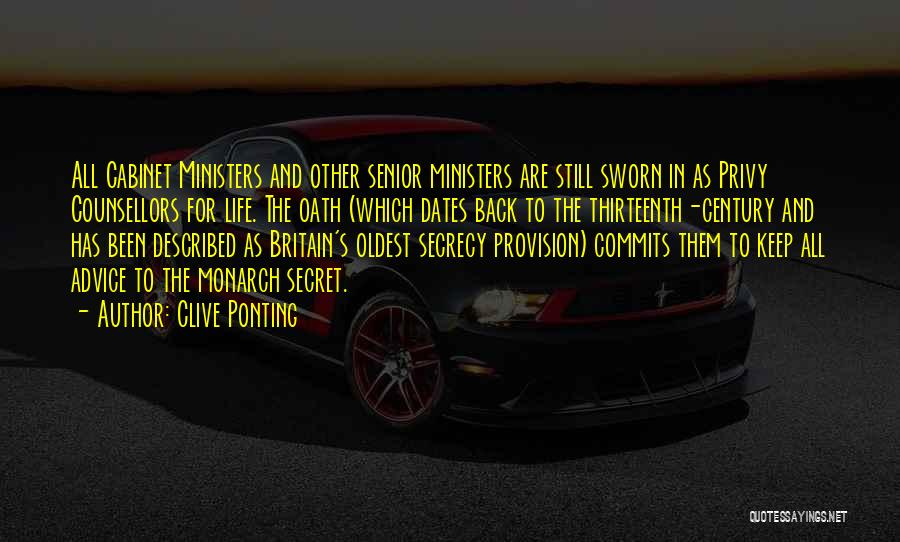 Secret Secrecy Quotes By Clive Ponting