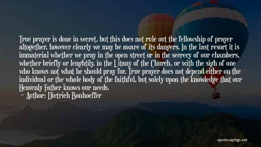 Secret Secrecy Quotes By Dietrich Bonhoeffer